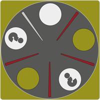 Logotipo para la solución al problema La Cena de los Filósofos
